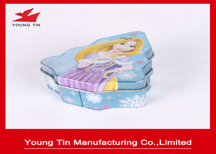 Christmas Tree Shaped Candy Gift Metal Tin Containers Tinplate Material WIth CMYK Printing