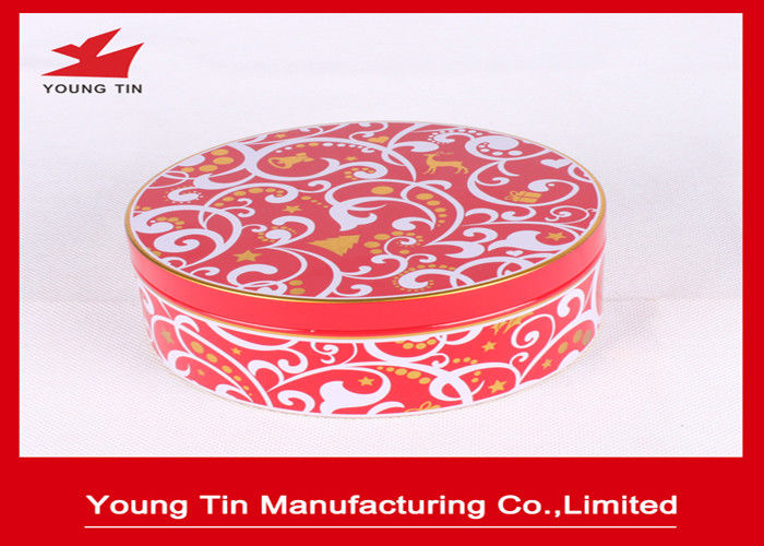 135x55mm Tinplate Empty Round Gift Tins , Safe Packaging YT1124 Circle Gift Boxes