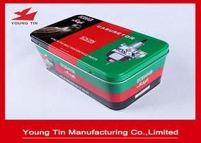 160*98*90mm Rectangle Printed Tin Boxes Recyclable Tinplate Fancy Custom